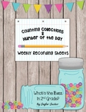 Counting Collections & Number of the Day Recording Sheets