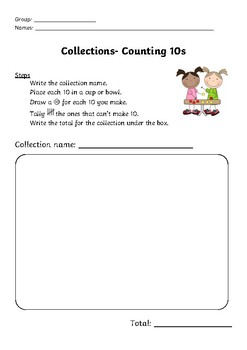 Counting Collections Record Sheet