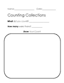 Counting Collections Recording Sheet