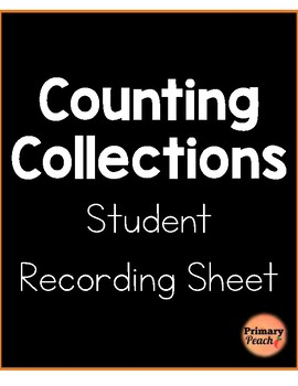 Counting Collections Recording Sheet Number Sense