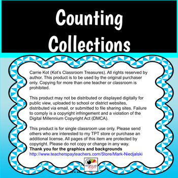 Counting Collections Tracking Sheet for Students