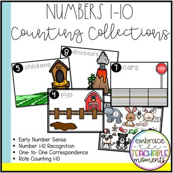 Counting Collections Velcro Booklet