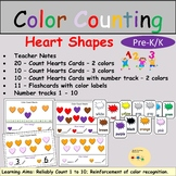 Counting Color Hearts Task Cards, Flash Cards, Number Trac