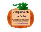 Counting, Comparing, Fall, Pumpkins, Math, Work Station, Math Talk
