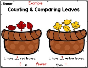 Counting & Comparing Leaves (A Fall Math Craft)