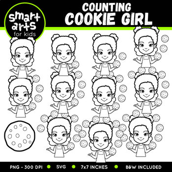 Counting Cookie Girl Clip Art