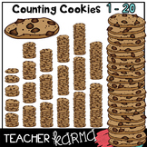 Counting Cookies * Chocolate Chip Cookie Math Manipulatives