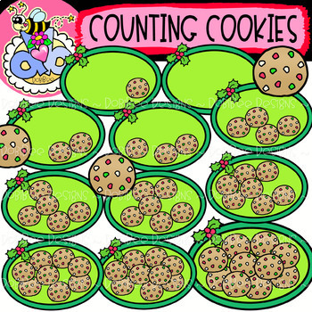 Counting Cookies: Christmas Clipart {DobiBee Designs}