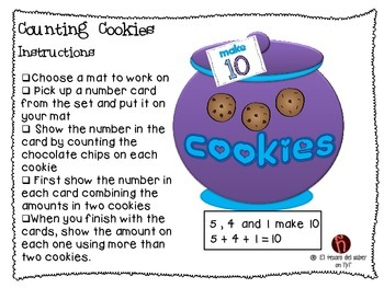 Counting Cookies - Number Sense - Math Game for DUAL Language