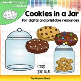Counting Cookies in a Jar Clip Art (for Printable and Movable)