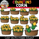 Counting Corn Clipart {Thanksgiving Clipart}