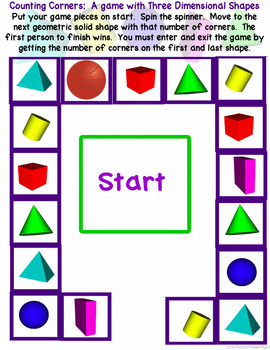 Counting Corners, Counting Faces:  3D Shape Games