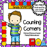 Counting Corners:  NO PREP Shape Roll and Remove Game