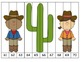 Counting Cowboys! Number Puzzles HUGE Bundle! {1-100, evens, odds, by 5s, by10s}