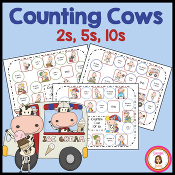 Counting Cows: 3 Skip Counting Games