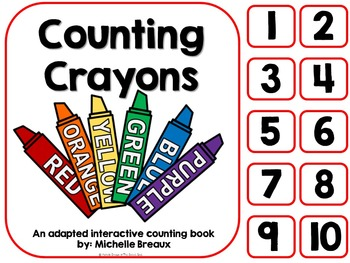 Counting Crayons- A Back to School Counting Book {SPED, Autism, Early Childhood}