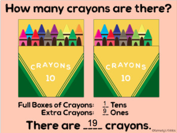 Counting Crayons: Base Ten 0-20 (Great for Google Classroom)