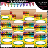 (0-12) Counting Crayons Clip Art - Sequence, Counting & Ma