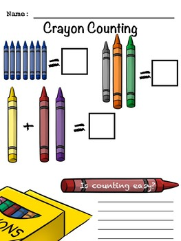 Counting Crayons FREEBIE