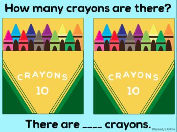 Counting Crayons: Numbers (Great for Google Classroom)