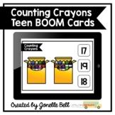 Counting Crayons Teen Numbers Kindergarten Boom Cards