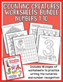 Counting Creatures 1-10 Number Worksheets - Heidi Songs