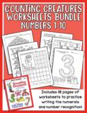 Counting Creatures 1-10 Number Worksheets - Heidi Songs