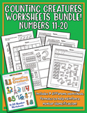 Counting Creatures 11-20 Number Worksheets