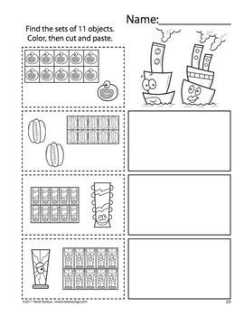 Counting Creatures 11-20 Number Workbook - Set 2