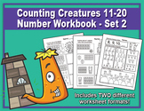 Counting Creatures 11-20 Number Worksheets - Set 2