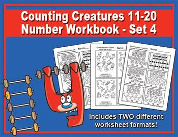 Counting Creatures 11-20 Number Workbook - Set 4