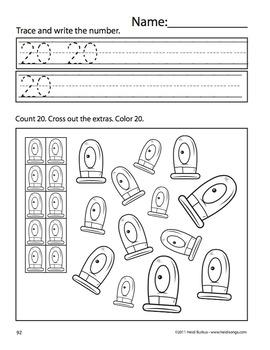 Counting Creatures 11-20 Number Workbook - Set 5