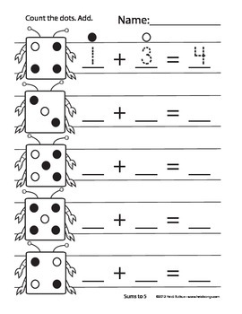 Counting Creatures Addition Sample