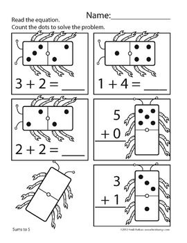 Counting Creatures Addition Worksheets - Set 1