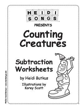 Counting Creatures Subtraction Sample