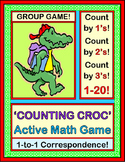 """Counting Crocodile Math Game!"" - Count By Ones, Twos, or Threes, 1-20"