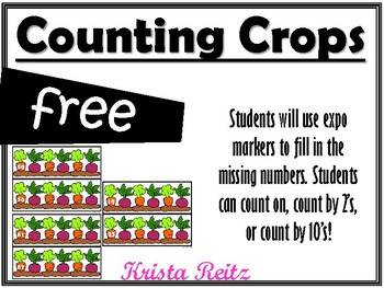 Counting Crops Freebie {counting on, counting by 2's, counting by 10's}