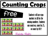 Counting Crops Freebie {counting on, counting by 2's, coun