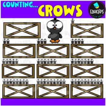 Counting Crows Clip Art Bundle  {Educlips Clipart}
