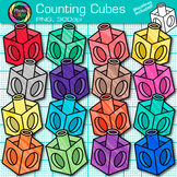 Counting Cube Clip Art {Rainbow Counting and Sorting Manipulatives for Math}