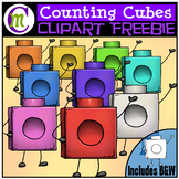 Counting Cube Clipart Buddies FREEBIE