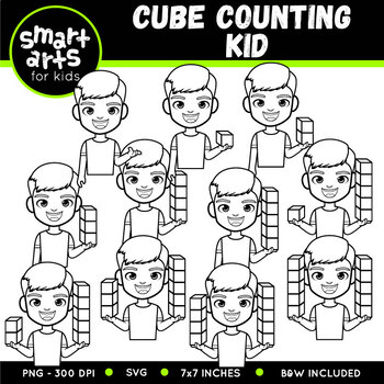 Counting Cube Kid Clip Art