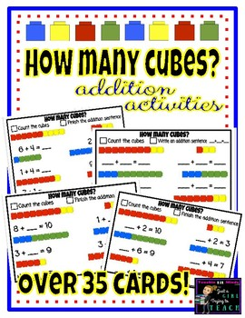 Can you COUNT & ADD? [Counting Cubes Activity Cards]