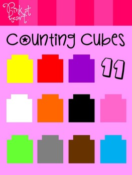 Counting Cubes Clip Art - FREEBIE!