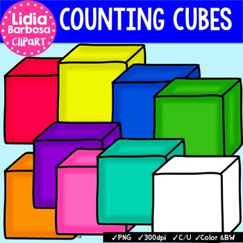 counting cubes clip art for teachers by lidia barbosa clip art rh teacherspayteachers com