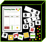 Counting Cubes Math Center / Small Group - Mat and Cards P