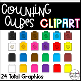 Counting Cubes and Snap Cubes {Clipart for Commercial Use}