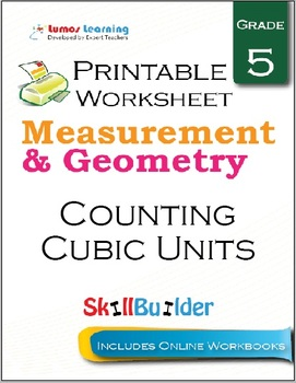 Counting Cubic Units Printable Worksheet, Grade 5