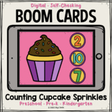 Counting Cupcake Sprinkles Boom Cards™   Distance Learning