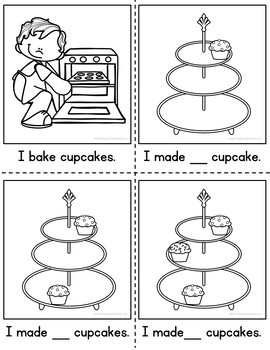 Counting Cupcakes Clip Cards|Counting Reader 1-20